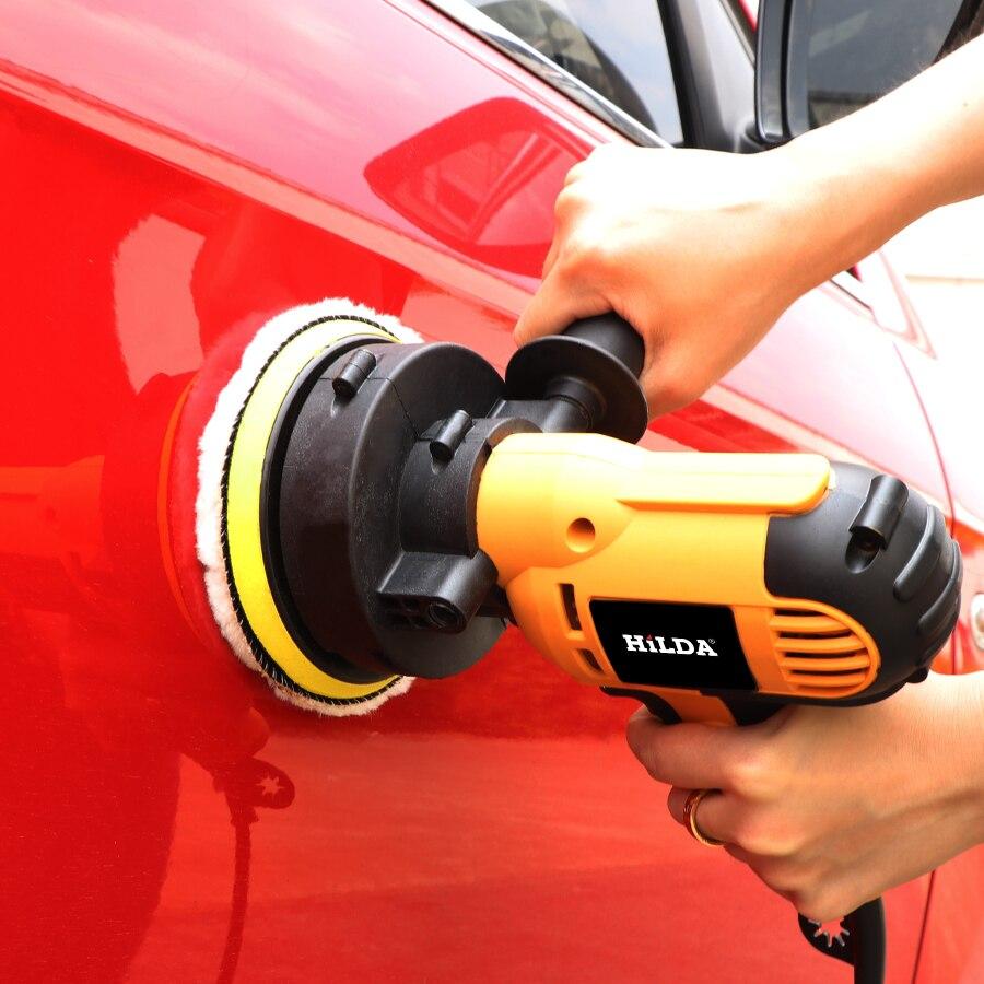 220V электрическая полировальная машинка для автомобиля машина для автоматической полировки Регулируемая скорость шлифовального приспособления для работы с воском автомобильные аксессуары Powewr инструменты