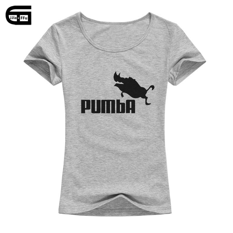 2018 roupas de verão da marca de algodão pumba t shirt ocasional das mulheres de manga curta t-shirt impressão tee femme tops dos desenhos animados com javali b116