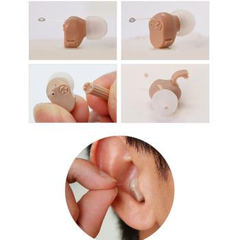 Mały rozmiar ucha aparat słuchowy wzmacniacz dźwięku mikro bezprzewodowe aparaty słuchowe dla osób w podeszłym wieku najlepszy niewidoczny aparat słuchowy dla prawej lewej tanie i dobre opinie AXON Wireless Hearing Aids silica gel fleshcolor 125 + - 3 db 30 + - 5 db 200-3000 hz 1 5V ≤ 3 5mA 1 * A10 battery