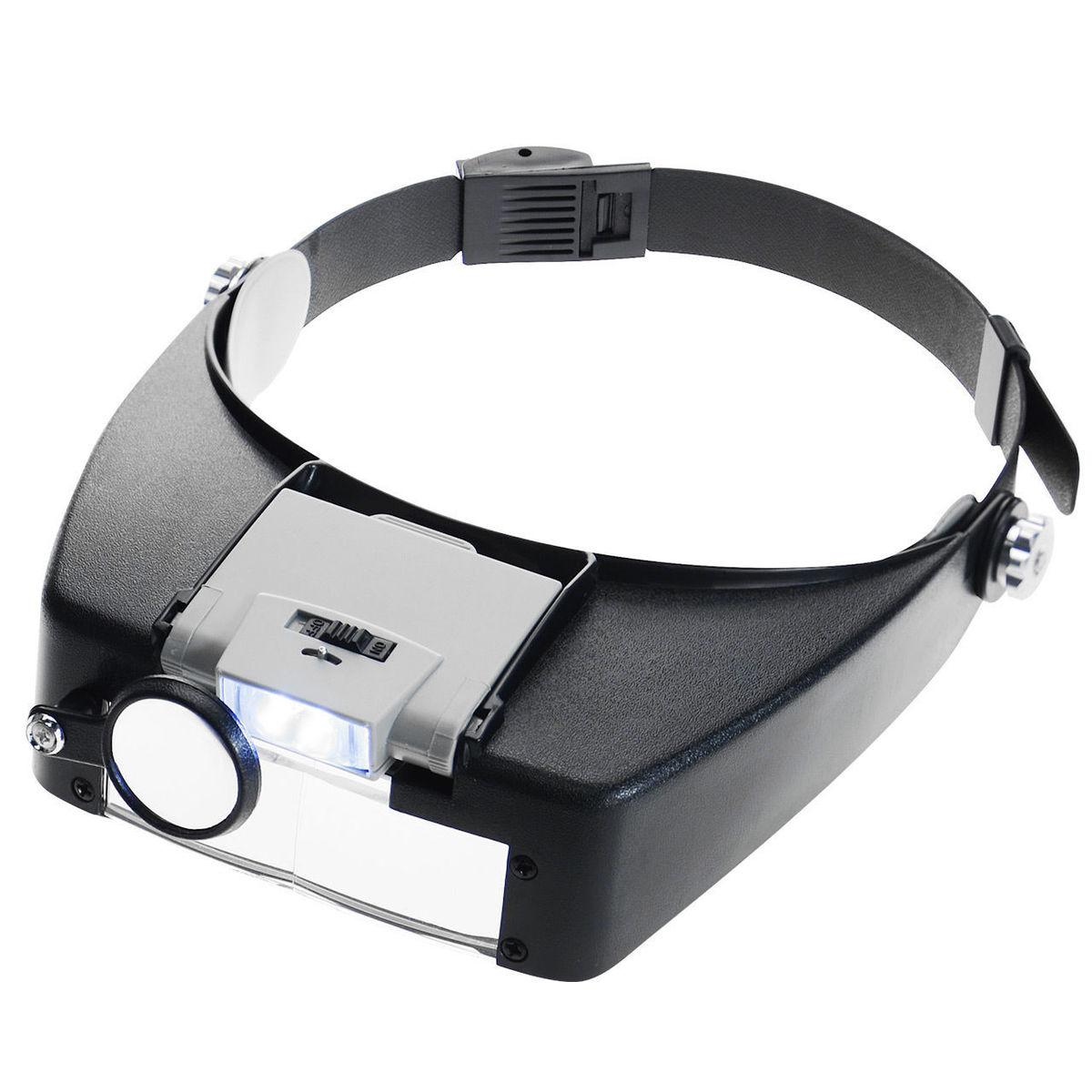 Lupa de diadema Led lámpara de luz de la cabeza lupa de vidrio lupa joyero con luces Led 1,5x3 X 8.5x 10x