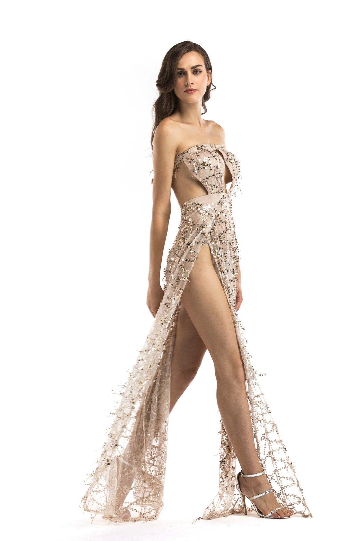 MUXU vestidos sexy transparent backless sequin dress glitter summer ... 80eb3725a94e