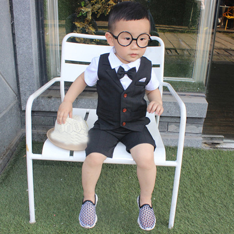 Baby Boys clothes Sets 2018 New Arrives Summer Children clothing Formal Wear Soft Short Shirt+Plaid Waistcoat+Shorts Kids kindstraum 2pcs vest shorts kids boys summer clothing sets new gentleman children wedding party wear plaid formal suits mc716