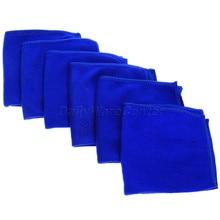 6PCS/lot 30X30cm Blue Microfibre Cleaning Auto Car Soft Cloths Wash Towel  Motorcycle Vehicle Washing Towels