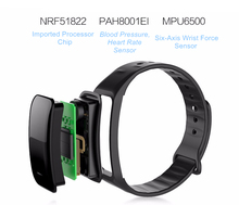Bluetooth Smart Band Blood Pressure & Heart Rate Monitor Waterproof Fitness Bracelet Sleep Tracker for Sports Health