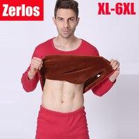 בתוספת xl גודל-5xl 6xl 7xl 2016 חורף הגברים לעבות קטיפה תרמית ג 'ונס הארוך זוגית שכבות חם t חולצה + סטי מכנסיים מותניים גבוהה