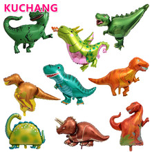 10pcs Mini Dinosaur Animal Foil Balloon Fruit Tree Kid's Jurassic Theme Birthday Summer Party Wedding Decor Baby Shower Supplies(China)