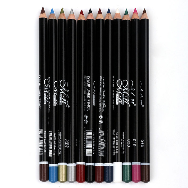 MENOW 12 Colors Eye Make Up Eyeliner Pencil