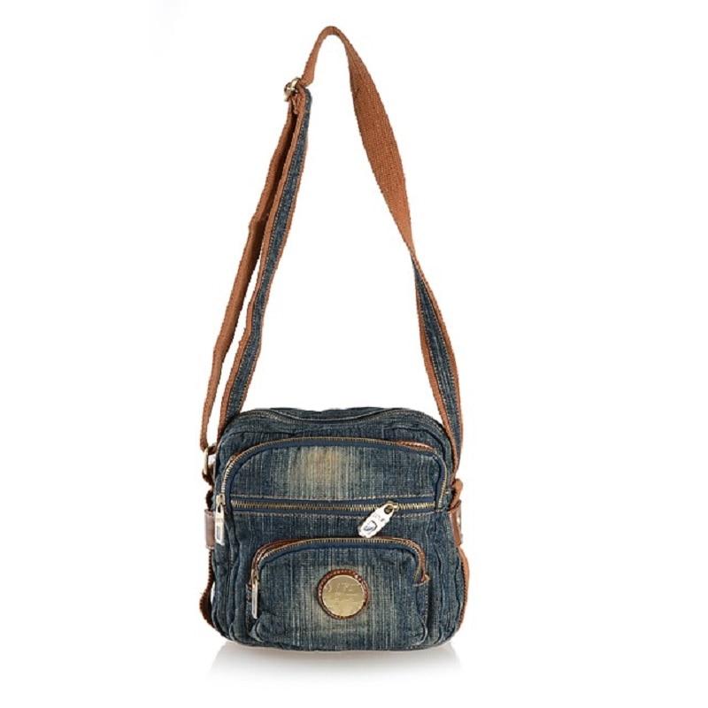 Vintage Fashion Denim Jeans Flap Men Bags Girls Handbags Crossbody Bag Women Messenger Bags Purse bolsa