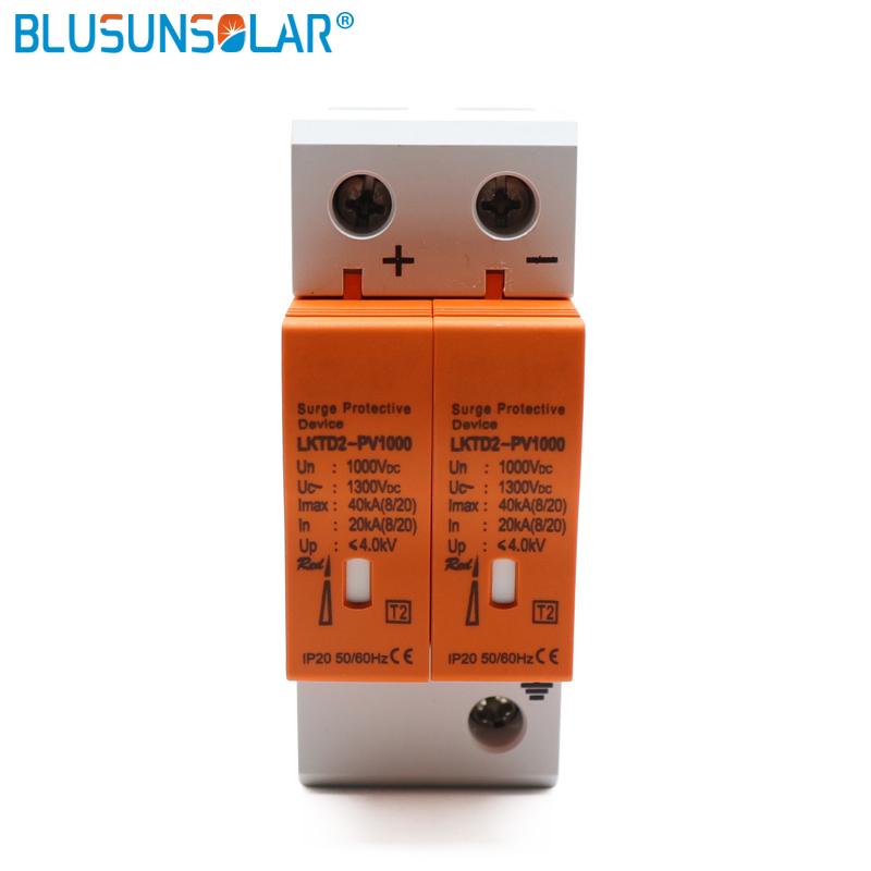 5pcs CE Approved 2P DC 1000V SPD 20 40kA DC Surge Suppressors/ DC Surge Protector for Solar System Protection-in Circuit Breakers from Home Improvement    1