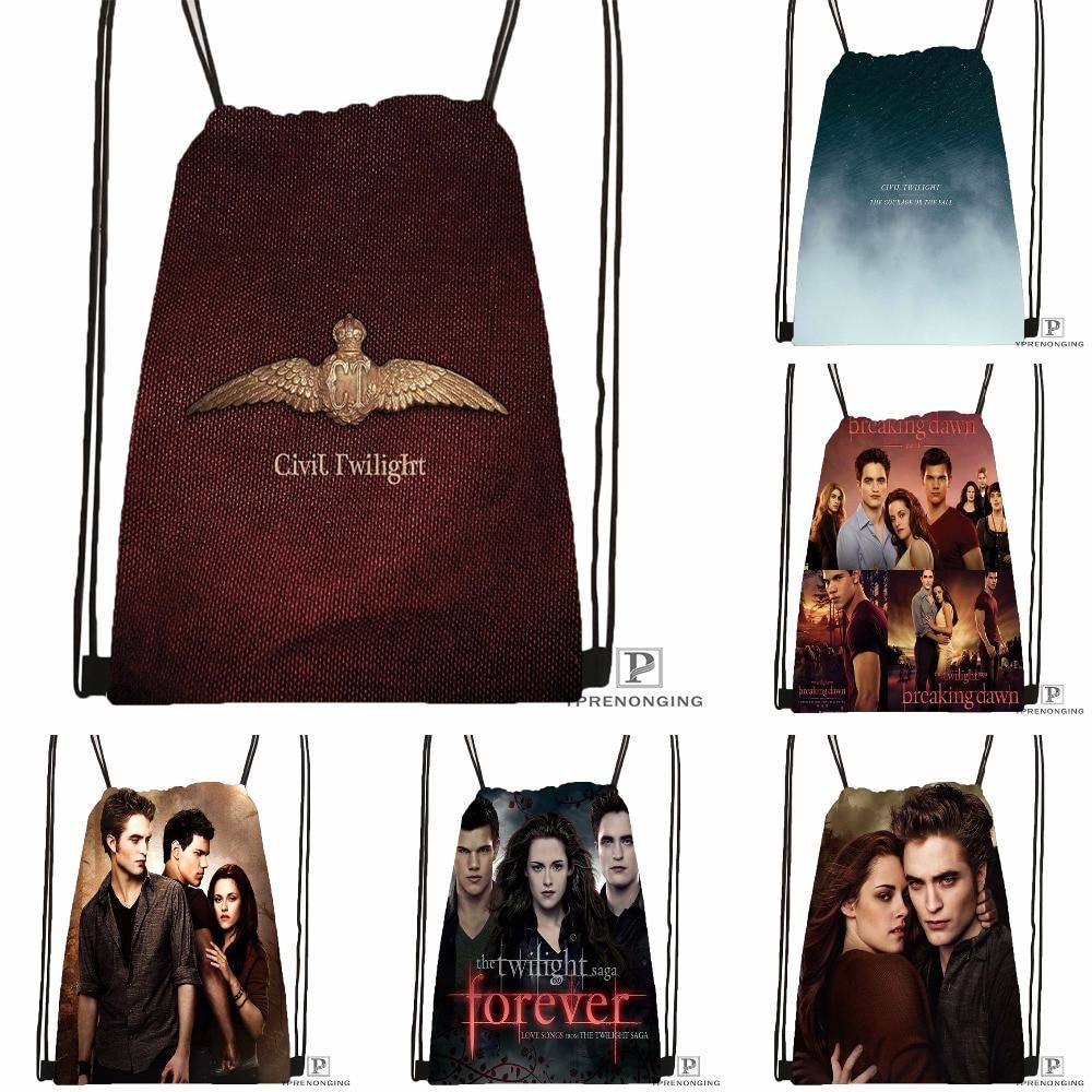 Custom New Arrive Twilight Drawstring Backpack Bag Cute Daypack Kids Satchel (Black Back) 31x40cm#180531-02-12