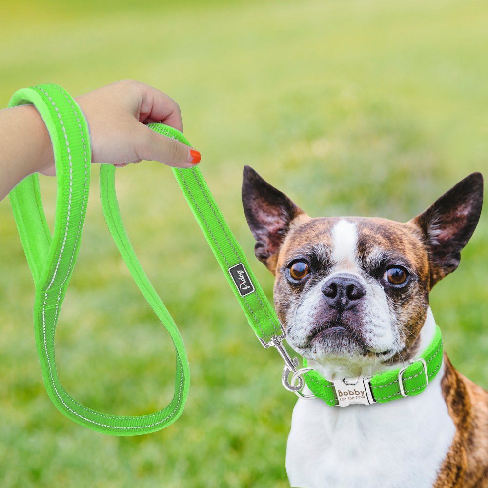 HTB19yN0di6guuRkSmLyq6AulFXan - Halsband hond met naam en telefoonnummer nylonmet riem