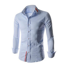2016 Men'S Long Sleeve Men Clothing Personalized Solid Shirts Formal Shirt Brand Dress Shirts Camisa Dos Homens DCM-HB-8749