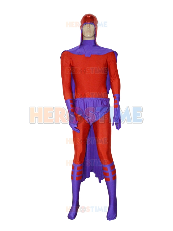 Magneto X-men Cosplay Comics Male Superhero Costume Fullbody Halloween Costume With Cape and Hat Custom Made Available