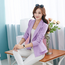 J53152 Autumn Women Blazers And Jackets Candy Color Jacket Long Sleeve Slim Suit