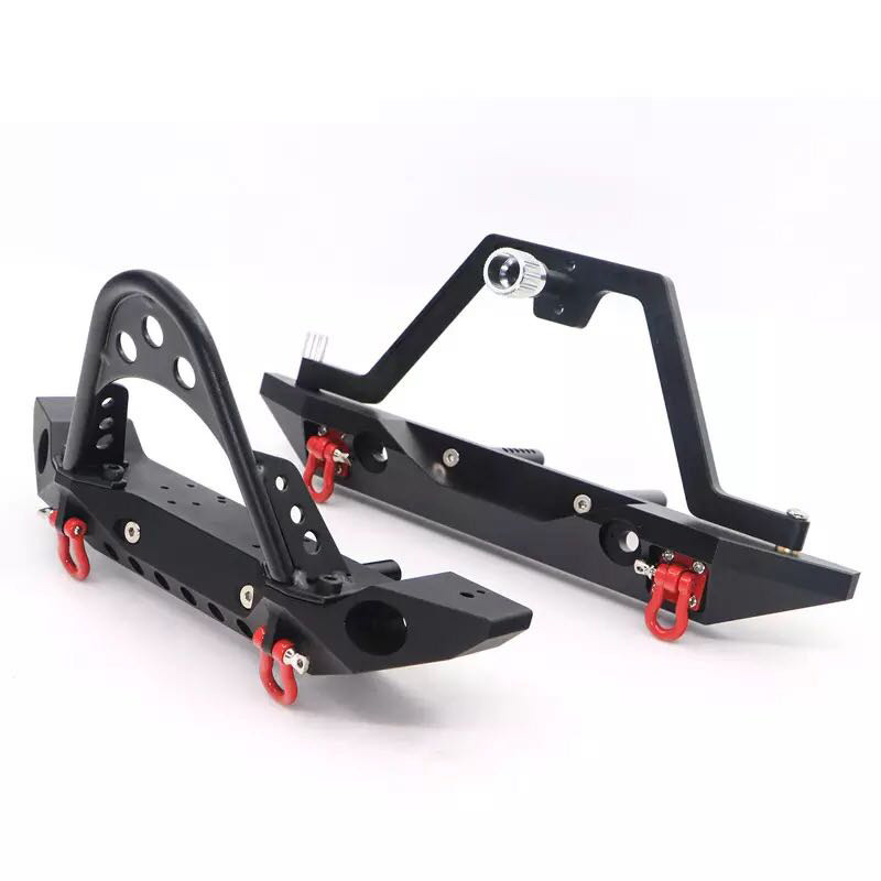 Image 3 - Metal Black Front Bumper(Rear bumper)  for 1/10 RC Crawler Car Traxxas TRX 4 Axial  SCX10 II 90046-in Parts & Accessories from Toys & Hobbies
