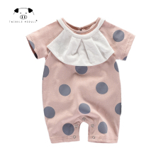 [Playful100] Newborn Baby baby jumpsuit Short sleeves summer Fashion point Boys girls Bodysuit Baby Clothes MD170X056