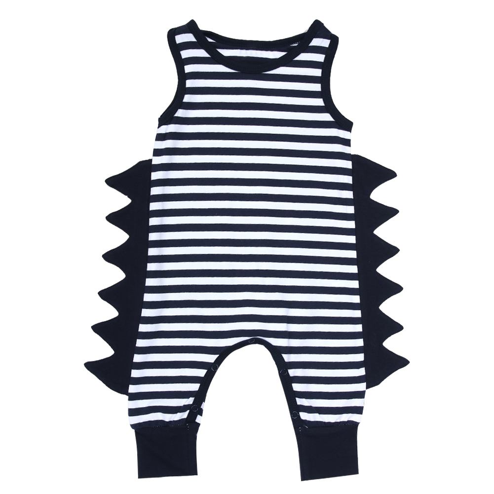 Cute Baby Rompers Newborn Kids 3D Blue White Striped Romper Fashion Baby Sleeveless Jumpsuit Playsuit Outfit Clothes for 0-24 blue and pink striped baby romper newborn baby girls pompom outfits infant baby rompers cute toddler kids clothes