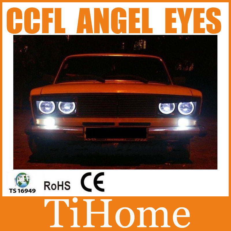 Hot selling ! Free Shipping UAZ LADA <font><b>2106</b></font> CCFL ANGEL EYES RINGS,NON PROJECTOR HALO RINGS LADA <font><b>2106</b></font> CCFL CAR EYES LIGHTS image