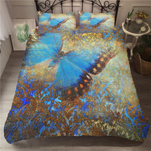 A Bedding Set 3D Printed Duvet Cover Bed Butterfly Home Textiles for Adults Bedclothes with Pillowcase #HD05