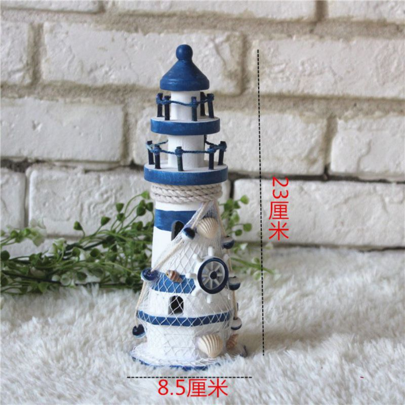 White Striped Blue Lighthouse