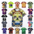 2015 casual summer new Men tops round neck short sleeve Tees size S-XXL trend animal prints stereoscopic 3D printing tshirt