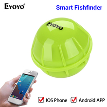 купить Eyoyo E1 Portable Fish Finder Bluetooth Wireless Echo Sounder Sonar Sensor Depth Fishfinder for Lake Sea Fishing IOS & Android дешево