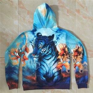 Image 5 - Dream by JoJoesart Tiger 3D Hoodies Sweatshirt Men Women Hoodies Fashion Streetwear Drop Ship Pullover Animal Hoodie ZOOTOP BEAR