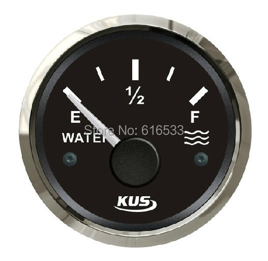 52mm water/liquid tank level gauge for vehienlar marine yacht motorcycle boat car instrument accessories (0-190ohm)