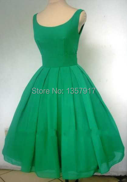 Real sample a 1950 s style emerald green boat neck short font b cocktail b font