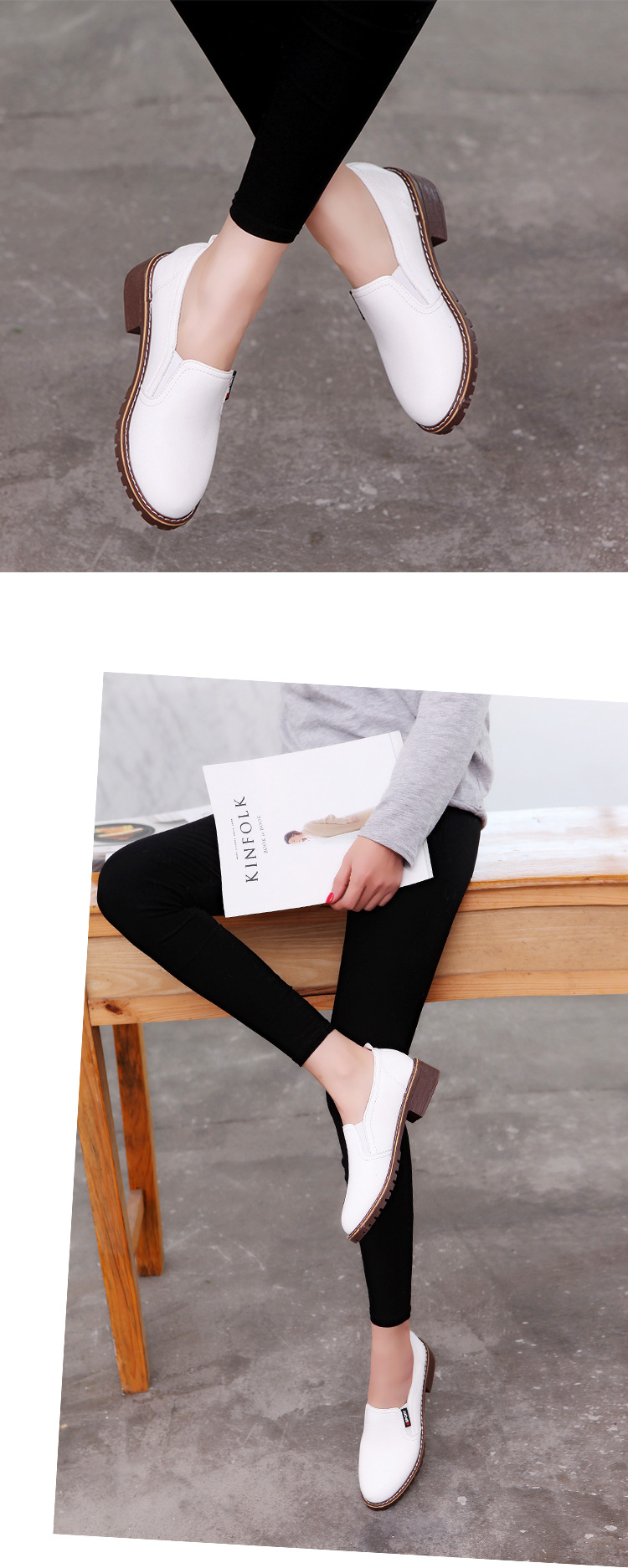 pé redondo rendas-up oxford sapatos mulher brogue sapatos casuais m89