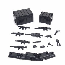 City Block MOC Military Weapons Pack Brick Army Soldier SWAT Police Building Block Brick font b