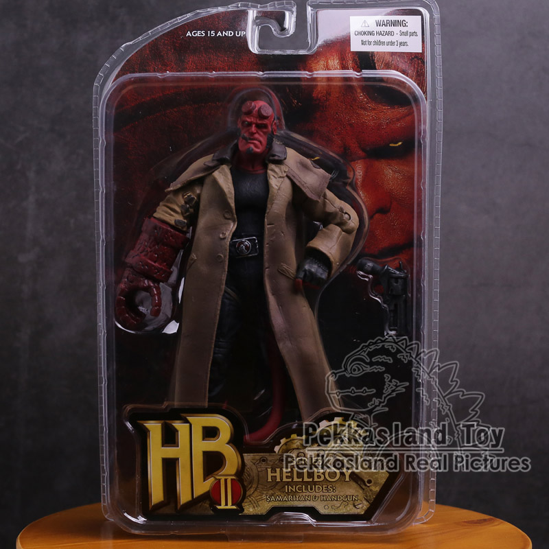 MEZCO Hellboy PVC Action Figure Collectible Model Toy 2 Styles 7 18cm hellboy giant right hand anung un rama right hand of doom arms hellboy animated cosplay weapon resin collectible model toy w257