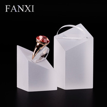 FANXI Free Shipping Delicate Matte Acrylic Earring Exhibitor Holder Stand Set Diamond Shape Prop Jewelry Display Set Shop Show