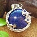 Lapis Natural Stone Pendant Natural Lapis Lazuli Ston Dragon Pendant 34*23mm