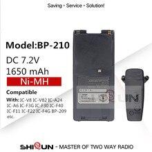 BP210 BP-210N BP-210 1650 mAh NI-MH pil ile Uyumlu IC-V8 IC-V82 IC-A24 IC-A6 IC-F3G IC-F30 IC-F40 IC-F11 IC-F22 IC-F4G