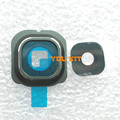 Você original do kit para samsung galaxy s6 edge g9250 g925 volta Titular Quadro Da Câmera traseira Tampa Da Lente de Vidro Com Adesivo Cola Adesiva