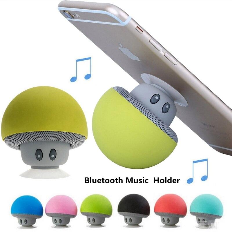 Soporte Lautsprecher Mp3-player Bluetooth Musical Pop-Halter Mini Mushroom für Xiaomi iPhone Samsung Einfassungs-unterstützung