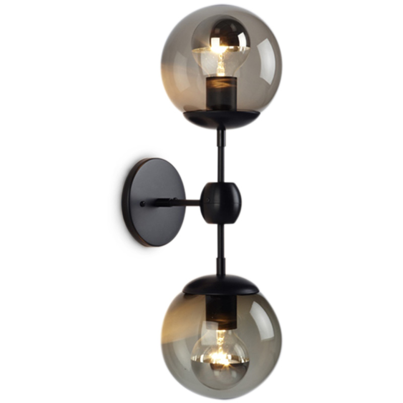 MODOU style Glass Ball Village Loft Industrial Retro Mirror Wall Lamp E27 Lighting For Cafe Bar Hall Dining Room Coffee Shop edison industrial vintage retro simple type flowers crystal glass droplight cafe bar club hall coffee shop bedroom bedside