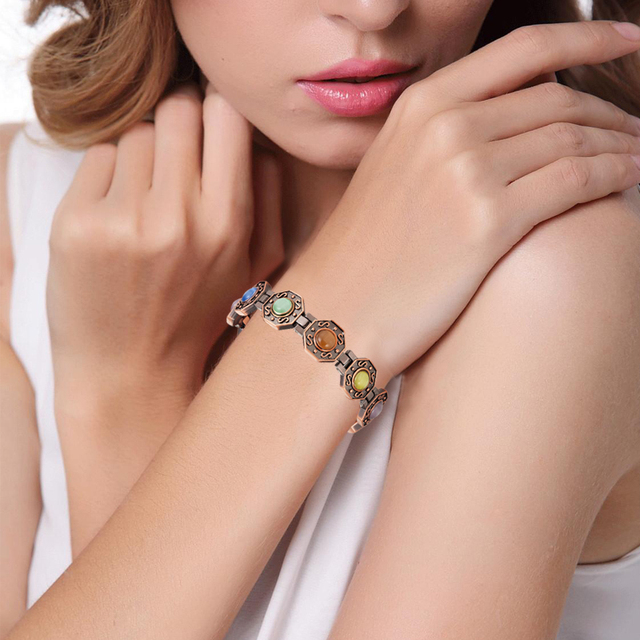 Copper Plating Octagon Magnetic Bio Fashion Bracelet12