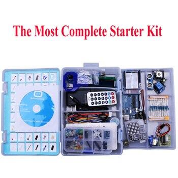 Elego UNO проецирует самый полный стартовый комплект для Arduino UNO R3 Mega2560 Nano с учебником/блоком питания/шаговым двигателем