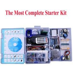 Elego UNO proyecto el Kit de inicio más completo para Arduino UNO R3 Mega2560 Nano con Tutorial/Fuente de alimentación/Motor paso a paso