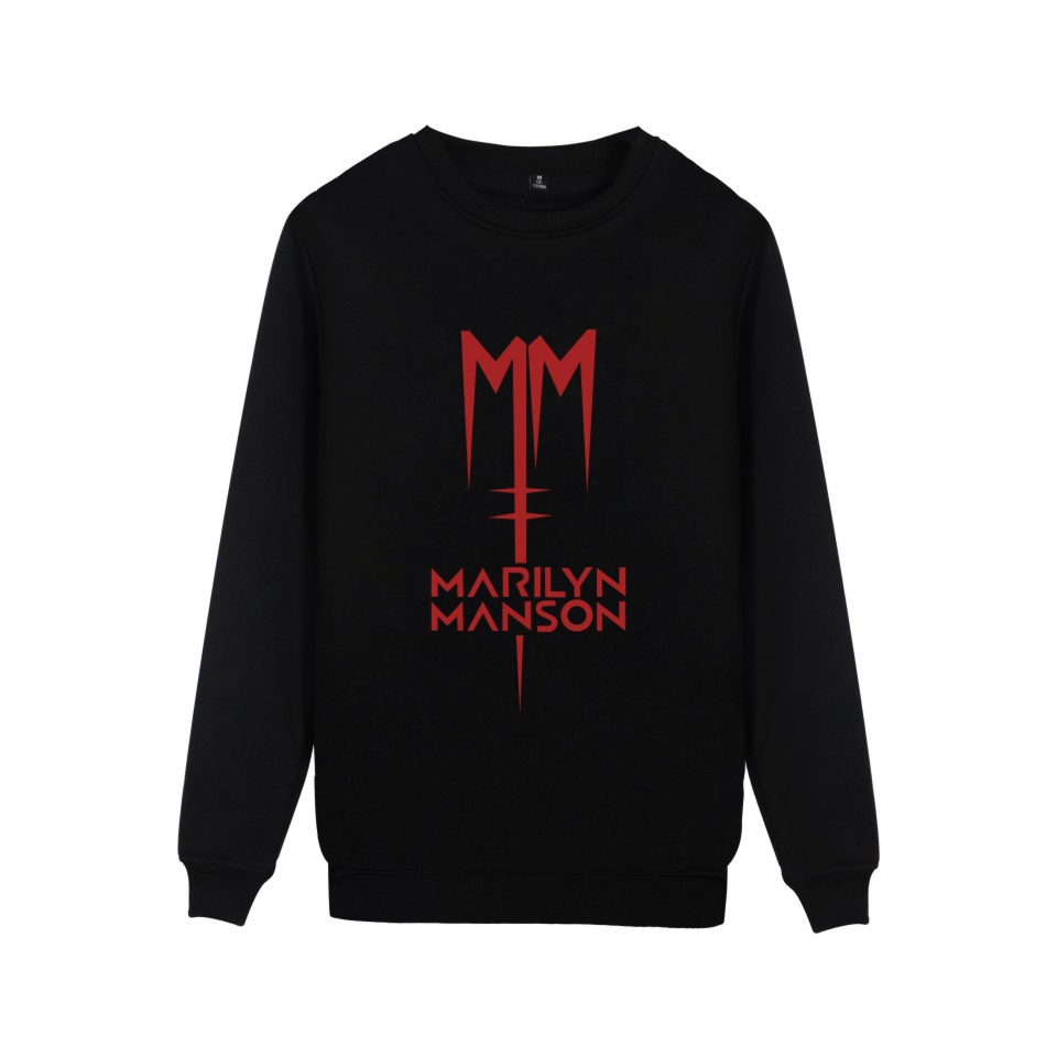 Popular Rock Band Marilyn Manson Sweatshirt Pullover Hoodie Industrial Metal Music Marilyn Manson  Women Men Hoodys Clothes