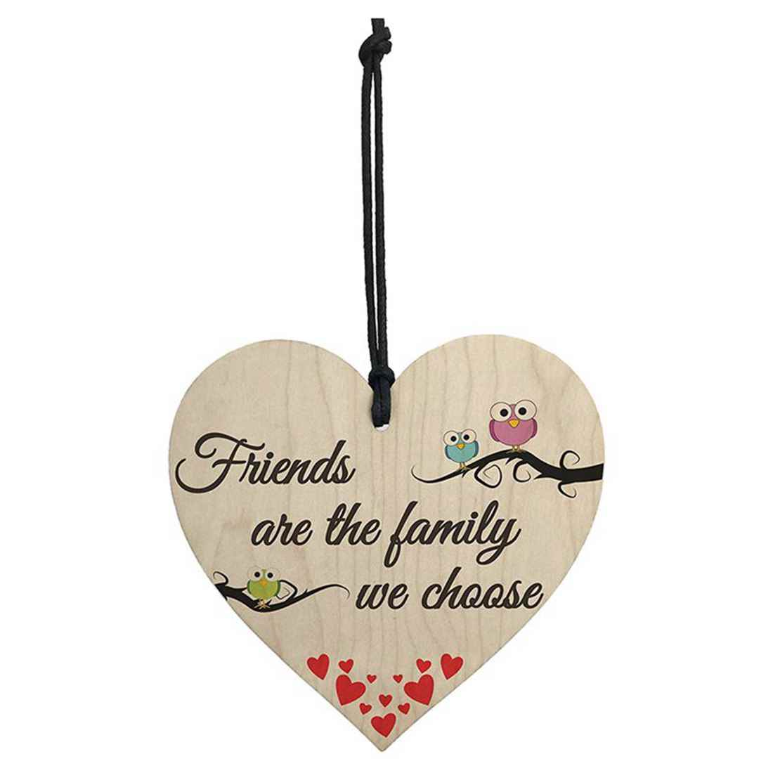 HOT SALE Friends Are The Family We Choose Wooden Hanging Heart Friendship Plaque Gift