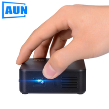 AUN Projector AKEY Series E3 Set in Android WIFI Bluetooth DLP Mini Projector with 3000mAH Battery for Business Meeting Lectures