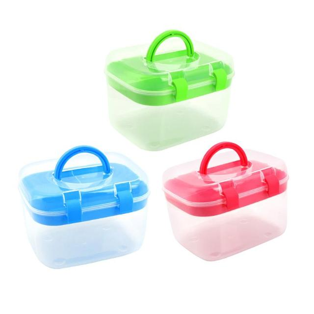 2 Layer Desktop Sundries Cosmetic First Aid Container Food jewelry