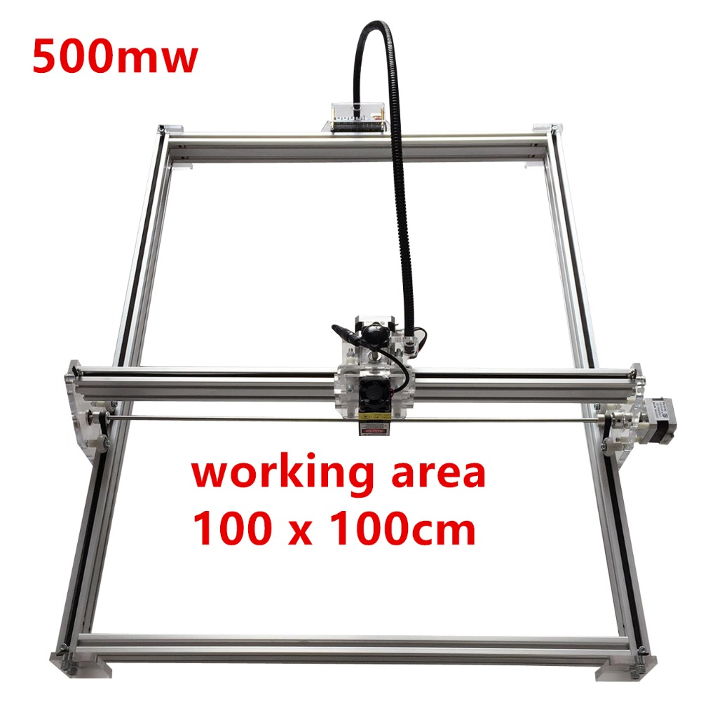 500mw Mini desktop DIY Laser engraving engraver cutting machine Laser Etcher CNC print image of 100*100cm big working area