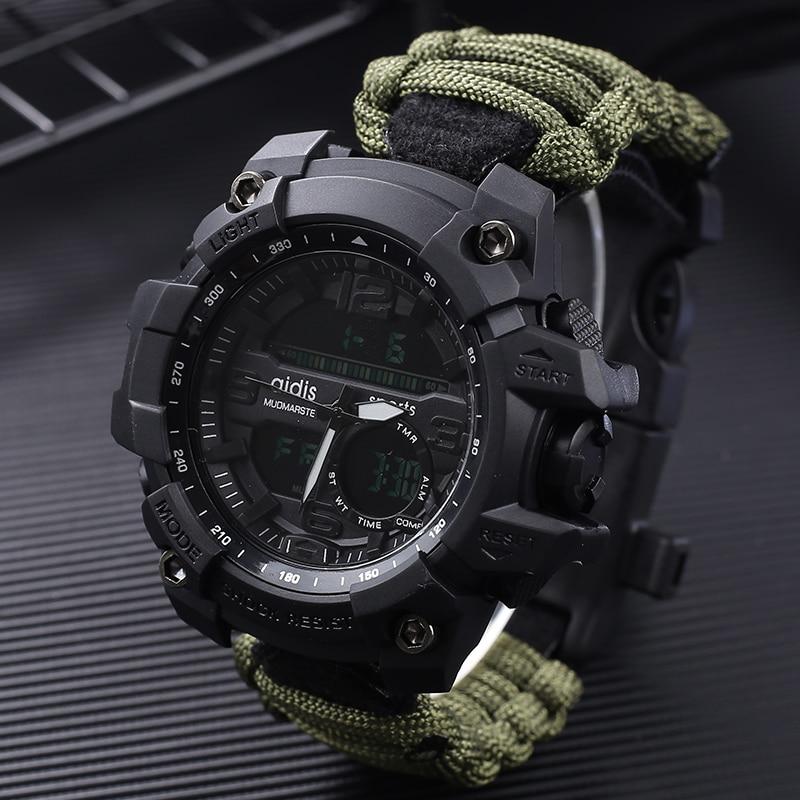 8919a2f013c Choque Esporte Relógios de Quartzo Grande Mostrador Digital Militar Relógios  Dos Homens Relógios de Pulso Masculino Relógio dos homens À Prova D  Água  Reloj ...