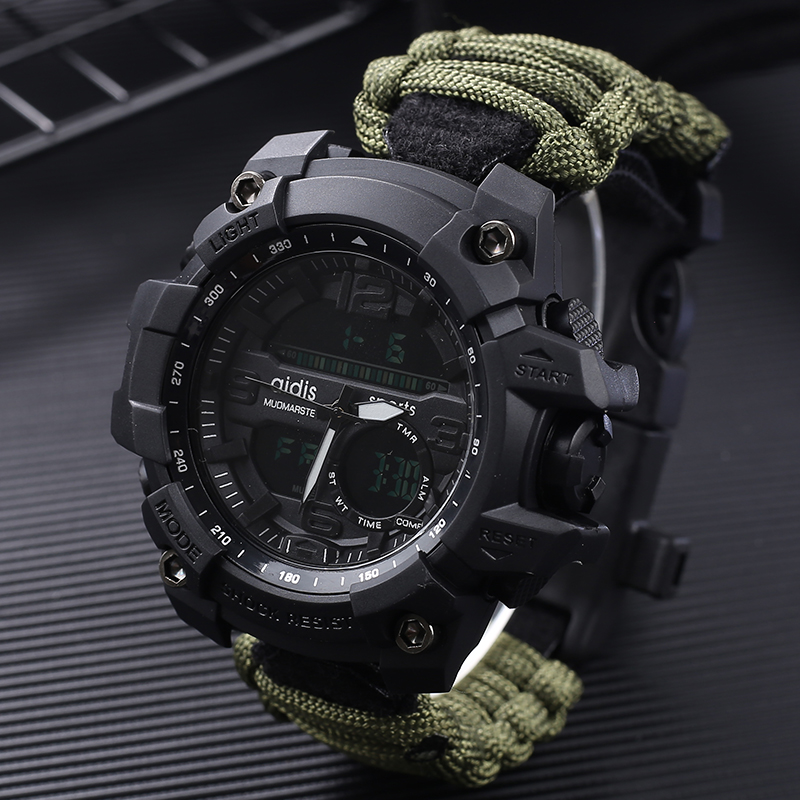 865b74be2156 Shock relojes Deportivos gran Dial Digital de cuarzo impermeable ...