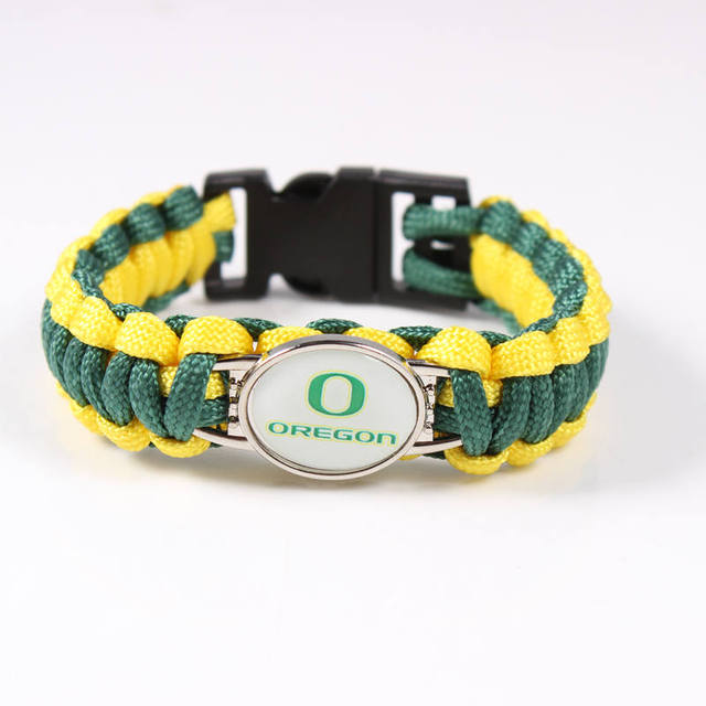 Outdoor Camping Paracord Survival Bracelet Oregon Ducks Ncaa Emergency Men Women Umbrella Braided Rope Charms