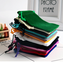100pcs/lot 5×7 7×9 9×12 15x20cm Velvet Bag Wedding Party Favor Boutique Cosmetics Jewelry Packaging Bags Candy Gift Bag Pouches